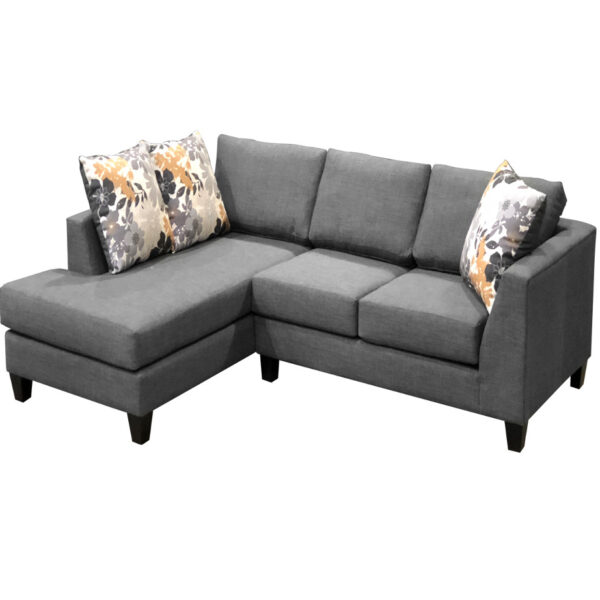 canadian made lisa sectional in custom upholstery