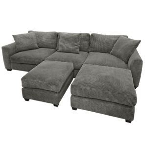 deep seat oneil sectional shown with large square ottomans