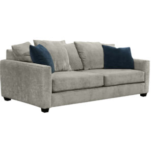 modern and cozy the bay sofa with loose back pillows