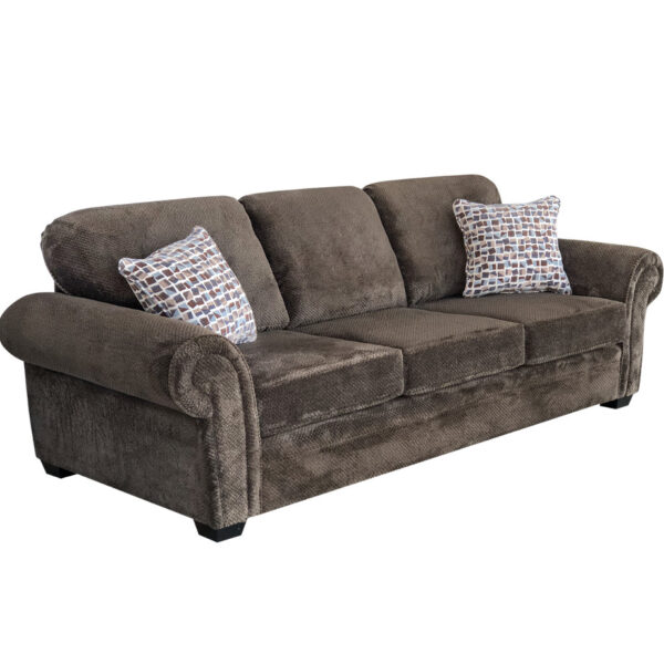 comfy seating willow sofa in dark brown fabric