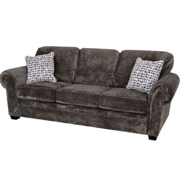 canadian made willow sofa with turned arms and comfy back