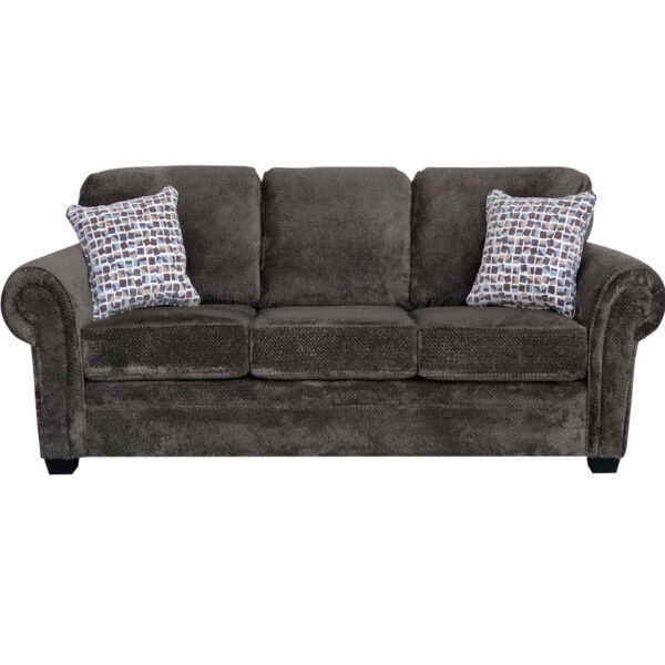 traditional willow sofa with rolled arms