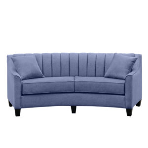 canadian made chanel curved sofa with custom curved back