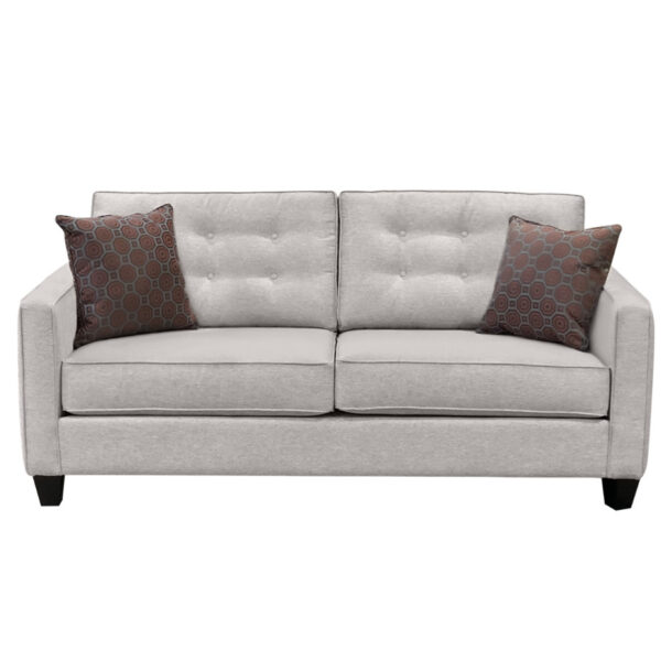 condo size lincoln sofa with modern tufted back