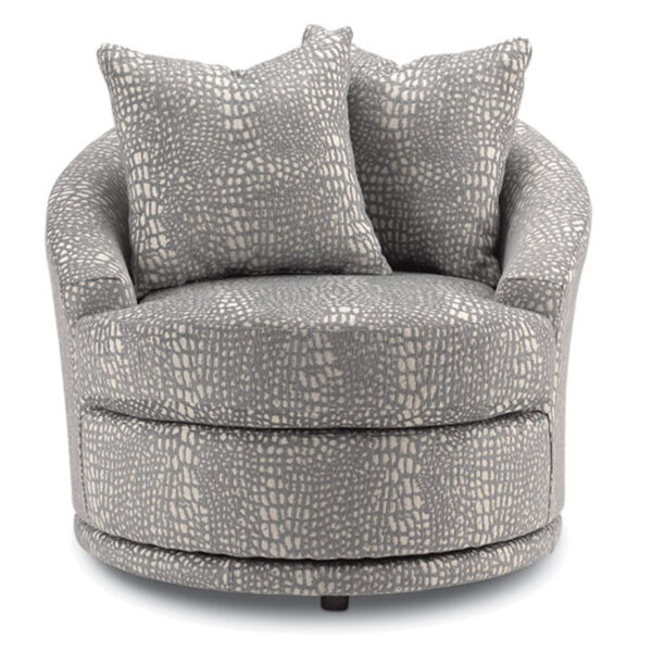 best home furnishings, custom accent chair, living room chair, swivel chair, allana chair