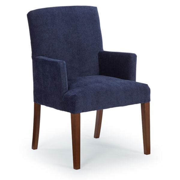 edmonton furniture store, edmonton furniture stores, Denai Parsons Arm Chair, accent chair, head chair, captain chair, fabric chair, dining chair best home furnishings