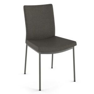 amsico osten chair with simple metal legs and custom fabric options