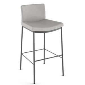 canadian made osten stool with low fabric back