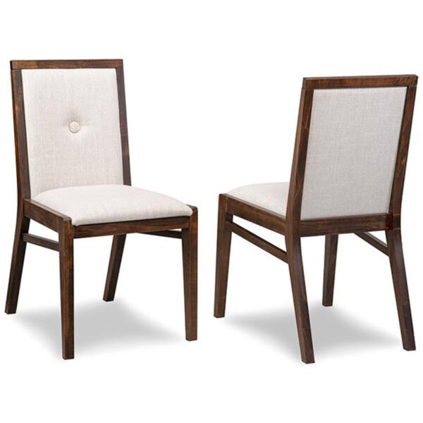 canadian made tribeca dining room chair with cleanable fabric and solid wood frame