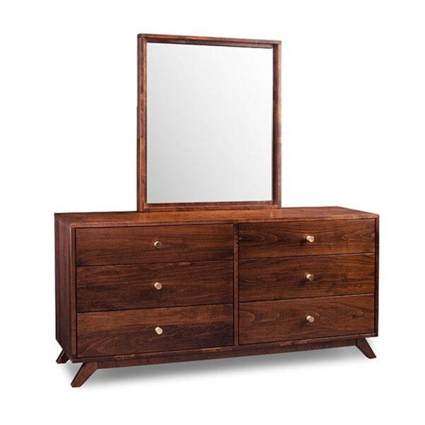 mid century modern bedroom furniture, upholstered bed, made in canada furniture, solid wood furniture, modern bedroom furniture, furniture store, edmonton furniture store, edmonton furniture stores, tribeca dresser