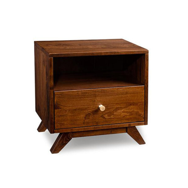 solid wood handstone tribeca night stand with drawer in solid wood
