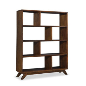 tribeca open bookcase, home office, solid wood furniture, display shelf, made in canada furniture, unique furniture, handstone furniture, edmonton furniture stores