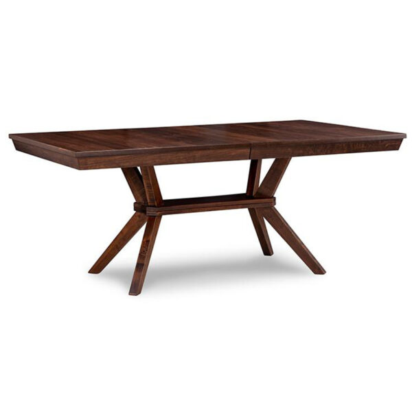 handstone tribeca trestle table in solid wood with rustic distressed finishing
