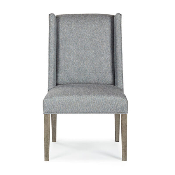 traditional wing back chrisney dining chair in custom fabric