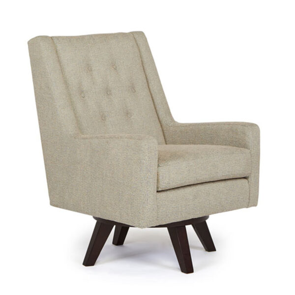 best home furnishings, accent chair, modern chair, club chair, custom build chair, edmonton furniture, kale swivel chair