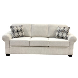 canadian made chicago sofa with traditional rolled arms and 3 seats