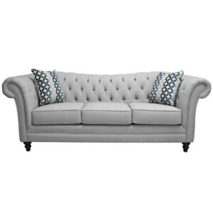 traditional flair sofa with rolled arms and deep tufted custom back
