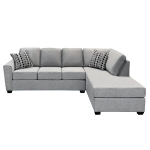 holyfield sectional with modern track arm in custom layout