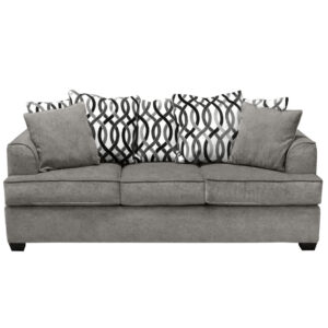 scatterback mario sofa sofa with loose back cushions in grey fabric