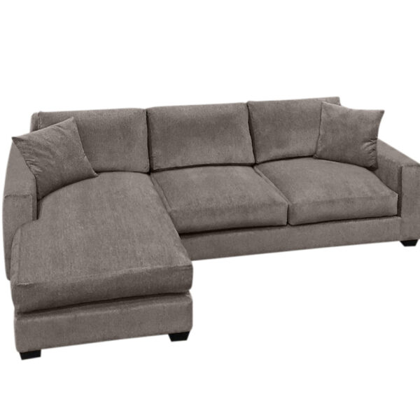 memories sectional with chaise and feather filled cushions