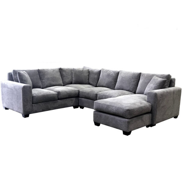 memories sectional with feather filled seating shown with chaise