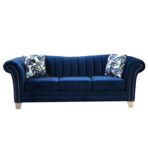 traditional ross sofa with channel back and rolled arms