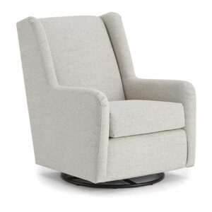 brianna swivel glider chair with wing back design