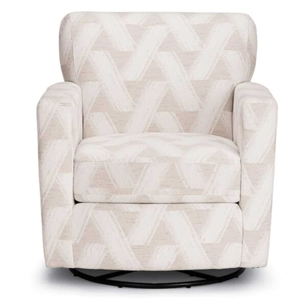 caroly swivel glider with narrow arms shown from front