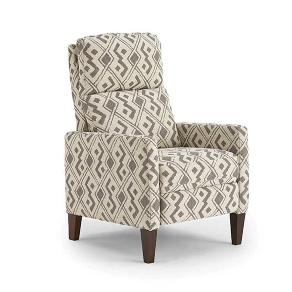 janae recliner with power recline in modern printed fabric