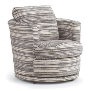 tina swivel chair with barrel chair base custom built in fabric