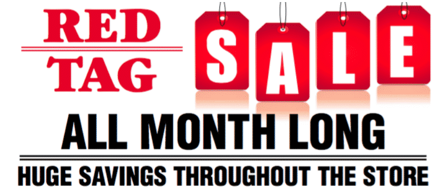 Red Tag Sale On Now