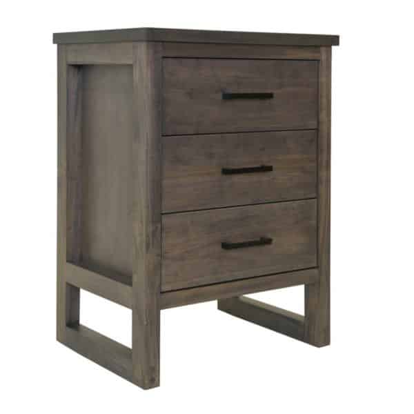 modern design furniture edgecomb large night stand with 3 drawers