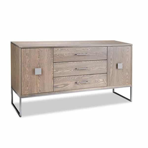 electra sideboard in solid oak canadian made with custom options