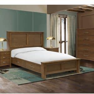 custom built hazelton bedroom suite with storage bed