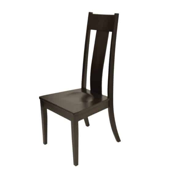 hazelton solid wood dining chair Canadian made with wood seat