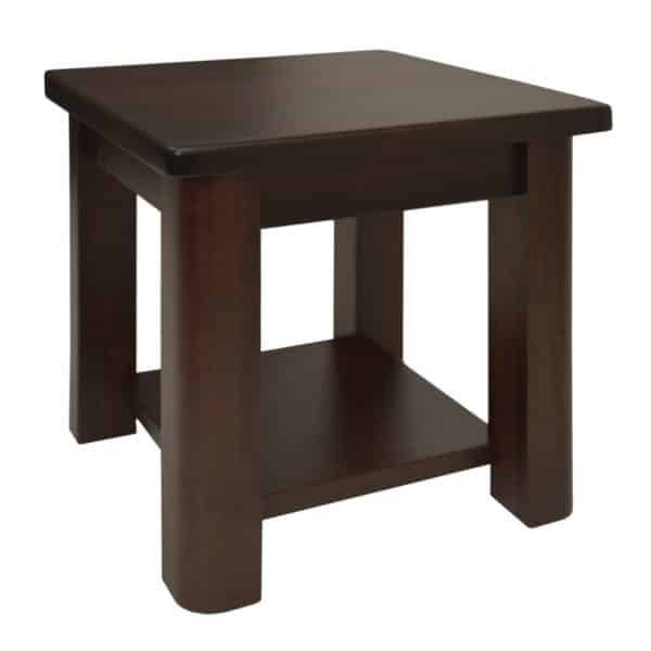 canadian made hazelton end table with shelf