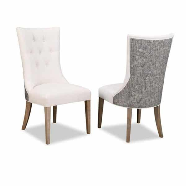 jefferson upholstered chair with tufted back and 2 tone fabric