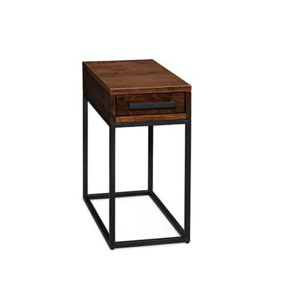 muskoka narrow chairside end table with drawer