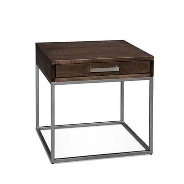 Muskoka End Table Canadian made with drawer and metal base