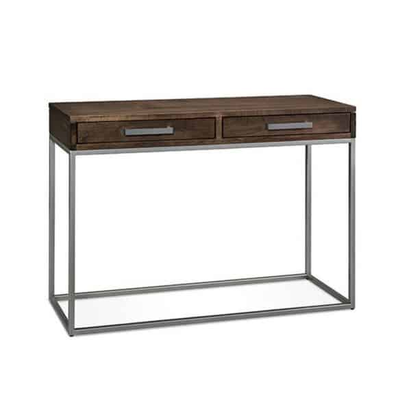 Musoka Console Table 2 Drawers and Metal Frame