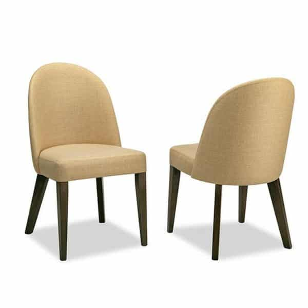 modern upholstered oslo fabric dining chair