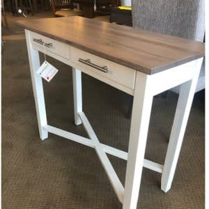 Rustic Wood Two Toned Console Table on Sale