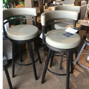 Ronnie Metal Frame Swivel Stools on Sale