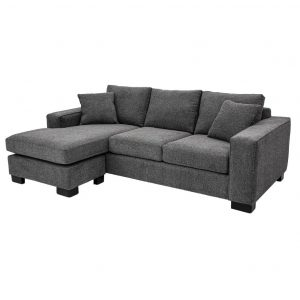 modern track arm alexis sectional with chaise seat