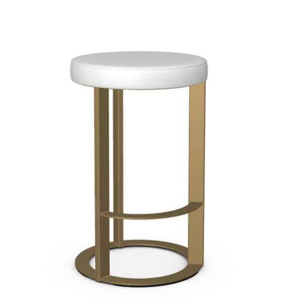 modern round seat allegro kitchen counter stool