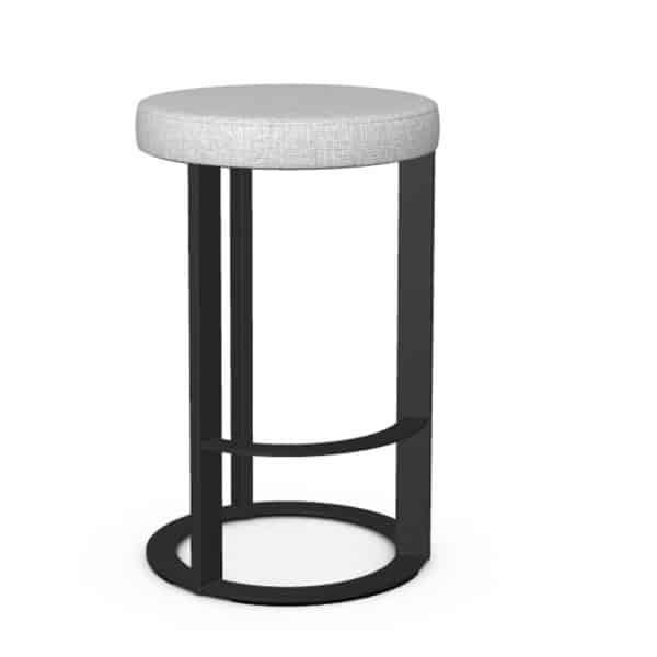 dark metal frame on allegro modern kitchen island stool