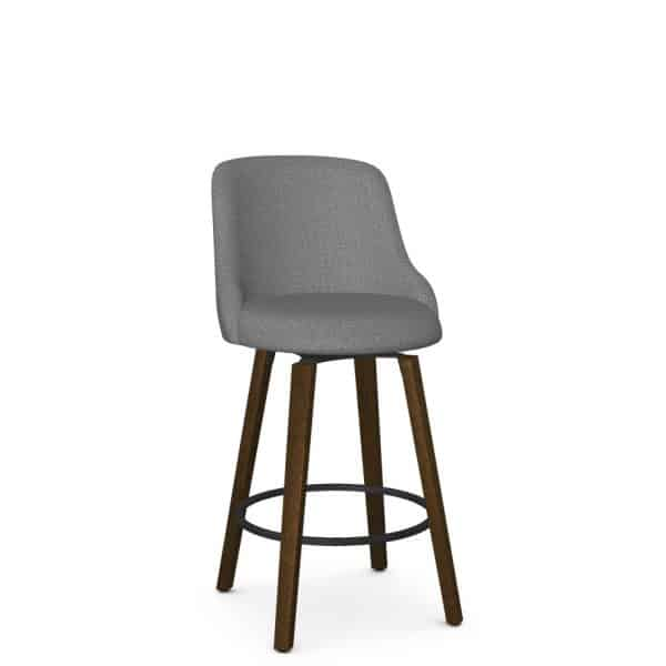 custom fabric option on diaz swivel stool for kitchen counter