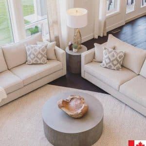 modern living room with van gogh kane sofa