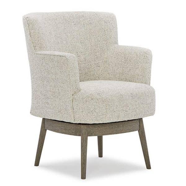 best home modern kelida swivel chair with wood base