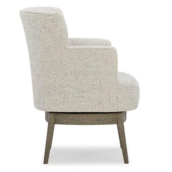 side profile of modern kelida swivel chair
